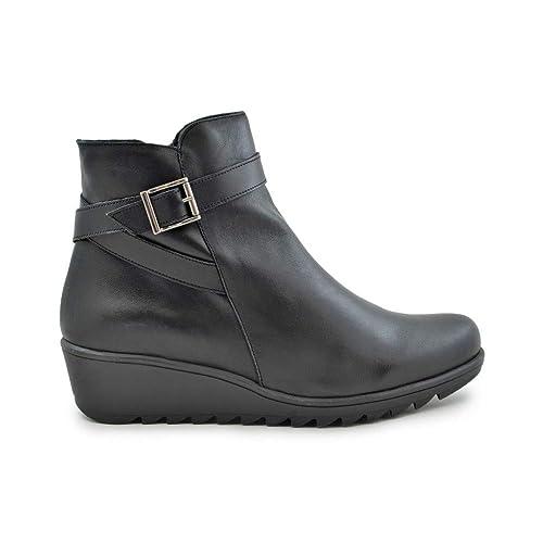 Botín cuña Pitillos 5239 Lucido Negro - Pitillos: Amazon.es: Zapatos y complementos