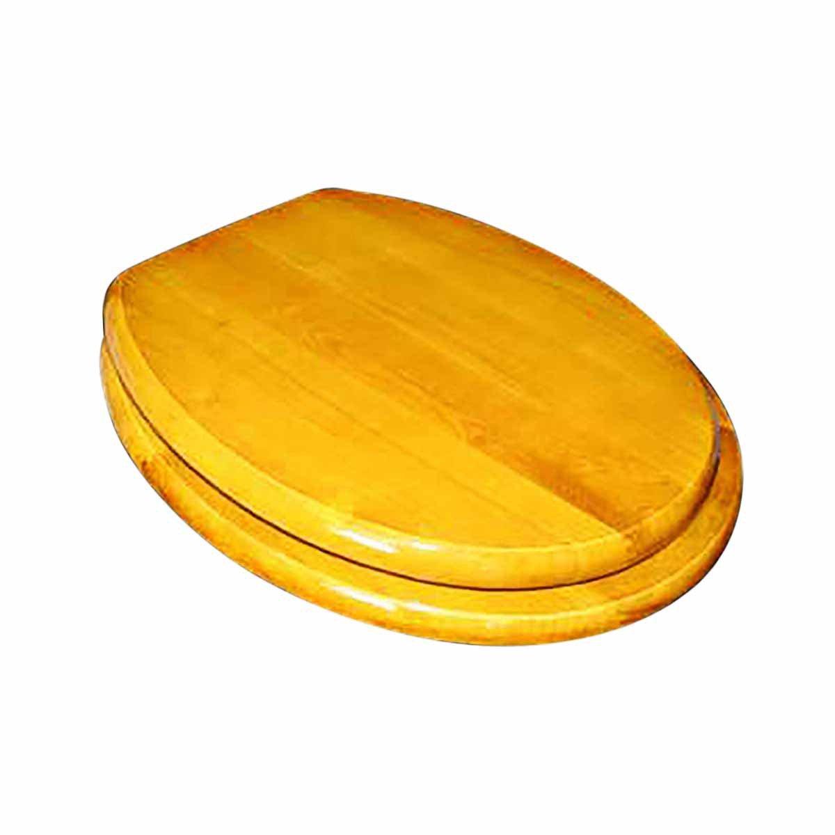 well-wreapped Bathroom Toilet Seat Golden Amber Hardwood Elong Chrome | Renovator's Supply