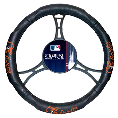 Orioles OFFICIAL Major League Baseball, Steering Wheel Cover (Made to fit 14.5-15.5 steering wheels) by Northwest Official