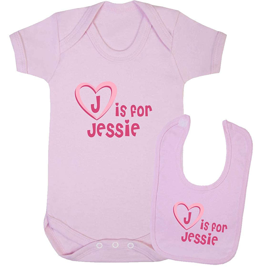 J is for Jessie Baby Gift Set Vest and Bib