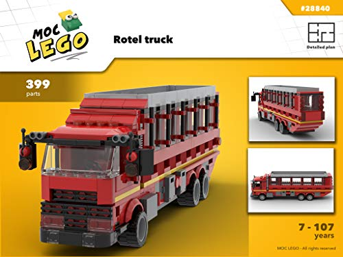Rotel truck (Instruction Only): MOC LEGO por Bryan Paquette