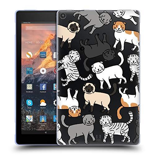 (Head Case Designs Scottish Fold Cat Breed Patterns 2 Soft Gel Case for Amazon Fire HD 10 (2017))