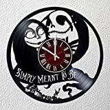Nightmare Before Christmas Art 12 inches / 30 cm Vinyl Record Wall Clock | Fan Gift | Gamora Clock | Children's Room Decor Idea Home Art Party Jack Sally Love Art | Christmas |