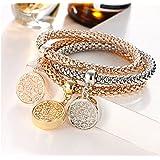 Charm Women Bracelet Gold Silver Rose Gold Rhinestone Bangle Jewelry Set