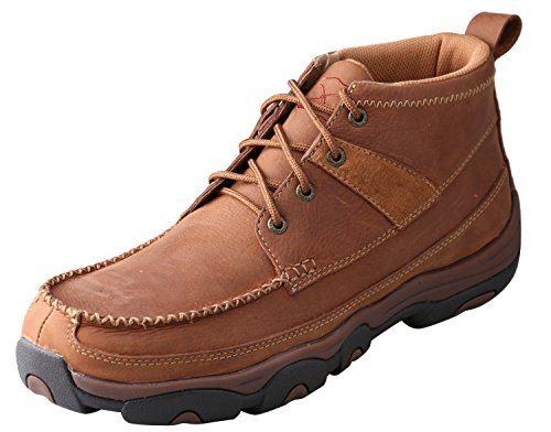 Image of Twisted X Men's Hiker Shoes Brown - Leather/Genuine Super Slab Rubber Material Footwear 13D US