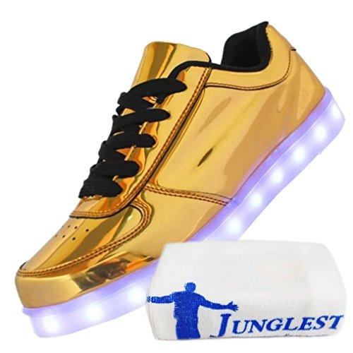 Lumière Homme Lumineux Led Chaussures Marche Mode Unisexe 2 Charge Ch présents De Serviette 7 Doré Usb junglest Clignotants Couleur petite Femme gaW7Pqw0