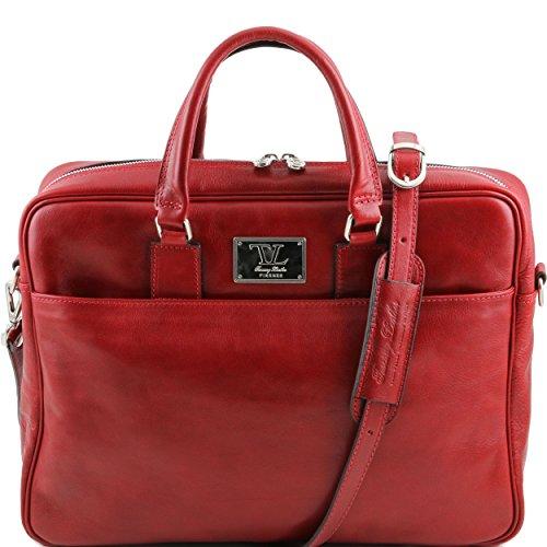 Taille Leather Unique Tuscany Para Rojo Al Bolso De Mujer Hombro Piel zqdARvq