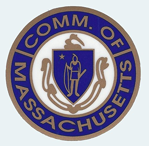 - Commonwealth of Massachusetts State Seal Round Decals for Inner Window - 3 Inch diameter