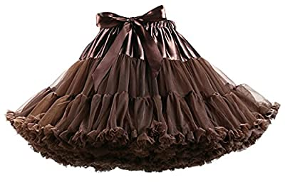 IF FEEL Black Friday Women's Luxurious Soft Chiffon Petticoat Tulle Tutu Skirt