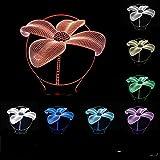 Cheap SUPERNIUDB 3D Lotus Flower Shape Night Light 3D LED USB 7 Color Change LED Table Lamp Xmas Toy Gift