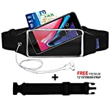 Running Belt Cell Pouch for Running,Sport Workout Belts for iPhone X 10 8 7 6/6s Plus,Samsung Galaxy S8 S7 S6 Plus, Carrier Phone holder Bag Case Fanny Pack Waistband for Walking, Gym,Jogging Runners Men/Women