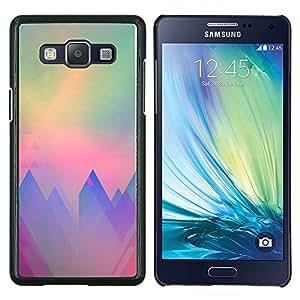 EJOOY---Cubierta de la caja de protección para la piel dura ** Samsung Galaxy A5 A5000 ** --montañas polígono arte del trullo púrpura sol