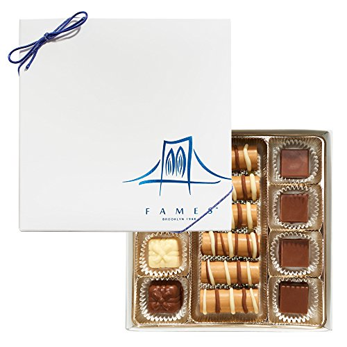 (Fames Chocolates Artisan Crafted Milk Chocolate Gift Box – Sumptuous, Robust, Melt in Your Mouth Chocolatier Truffle Gift Boxes, A Perfected Tradition Since 1948 – Kosher Dairy)