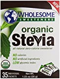 Wholesome Sweeteners Organic Stevia 35 Individual Packets, 1.23 Oz by Wholesome