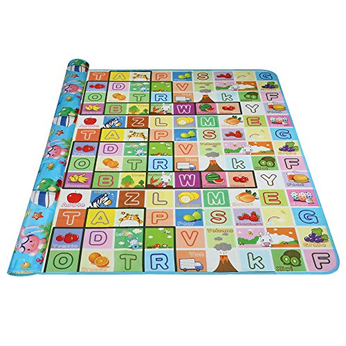 Wakrays Baby Play Crawl Mat Carpet Playmat Foam Blanket Rug for In Out Doors