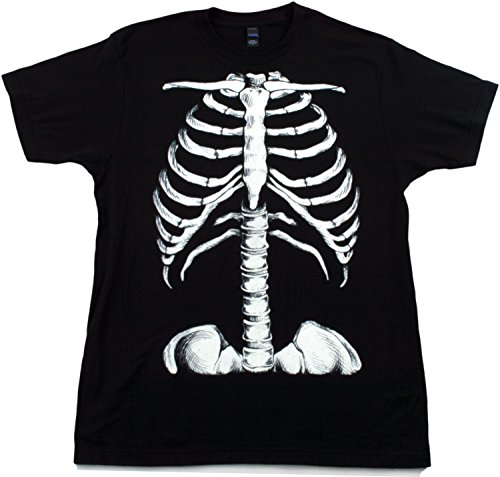 Skeleton Rib Cage | Jumbo Print Novelty Halloween Costume Unisex T-shirt-Adult,XL