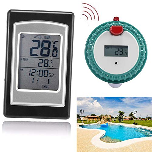 MSOO Wireless Remote Floating Thermometer Swimming Pool Waterproof Hot Tub Pond Spa