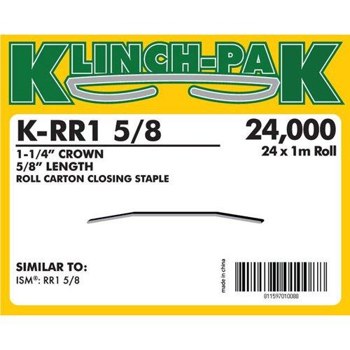 Klinch-Pak K-RR1-5/8 Roll Staple with 5/8'' Leg Length and 1-1/4'' Crown, 1m