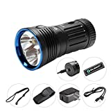 Bundle: olight x7r marauder rechargeable flashlight cree LED 12000 lumen most user-friendly ultra bright flashlight updated verions of olight x6 marauder with olight patch