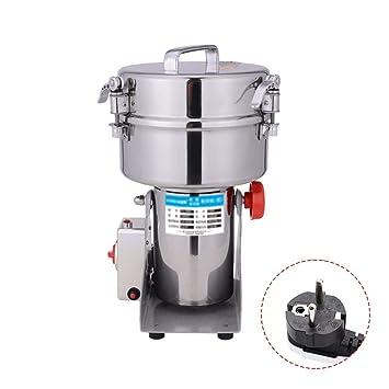 IDABAY Molinillo Electrico de Grano Swing Molino de alimento seco acero inoxidable en Columpio Polvo máquina para Granos Especias Hierbas Cereales Pimientas ...