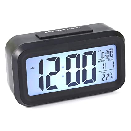 Amazon.com: DeWin Digital Clock LED Backlight Digital Snooze ...