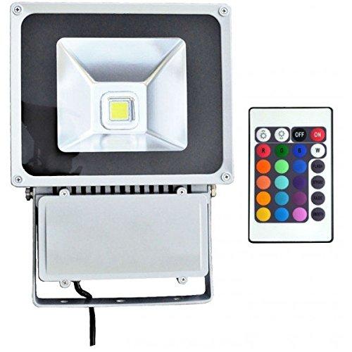 Vision-EL 78047 Proiettore esterno LED, vetro ferro, 100 W, Grigio, (L x i X H) -285 X 100 X 380 Mm