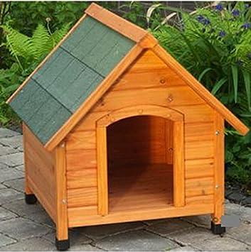 Spike comodidad luz madera perro de la perrera - Protege tu perros de manera óptima contra el frío y suelo la humedad: Amazon.es: Productos para mascotas