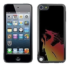 Be Good Phone Accessory // Dura Cáscara cubierta Protectora Caso Carcasa Funda de Protección para Apple iPod Touch 5 // Dragon Yellow Pink Flying Fairytale Drawing Art