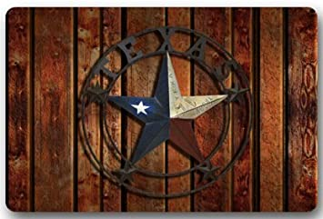 Western Texas Star Door Mats Cover Non Slip Machine Washable Outdoor Indoor  Bathroom Kitchen Decor