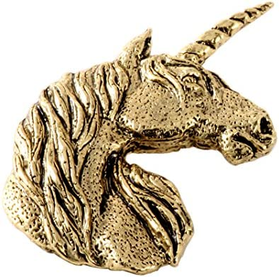 Creative Pewter Designs - Unicorn Lapel Brooch Pin Handmade in The USA - Available in Pewter Copper & 22k Gold Plated & Hand Painted\u2026