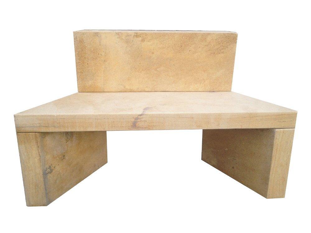sitzbank aus naturstein bank f r den garten gartendeko aus stein online kaufen. Black Bedroom Furniture Sets. Home Design Ideas