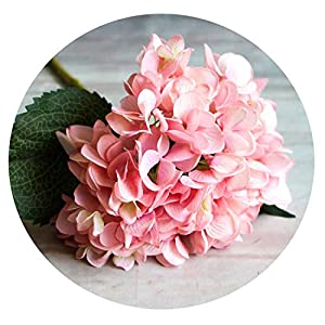 Zalin 1 Branch Artificial Flowers Wedding Party Home Decor Hydrangea Bouquet Artificial Flowers Plants Dried Flowers Single Silk Cloth 75