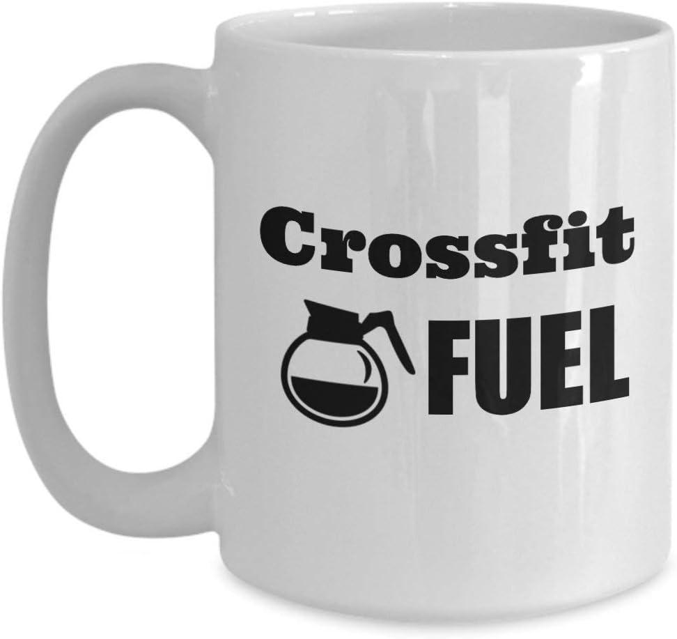 N\A Taza de caf/é o t/é Crossfit Fuel Gift Ejercicio para Aficionados al Entrenamiento Regalo Divertido