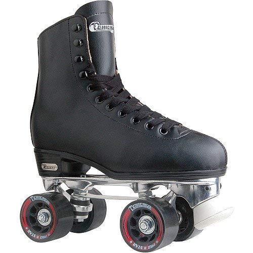 Chicago Men's Premium Leather Lined Rink Roller Skate - Classic Black Quad Skates - Size 11 (Outdoor Roller Skates For Men)