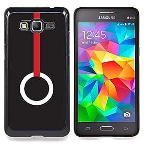 - Ring Minimalist Deep Red Meaning/ Duro Snap en el tel????fono celular de la cubierta - Cao - For Samsung Galaxy Grand Prime G530H G5308