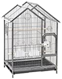 Cage Connection Contemporary HouseBird  Cage with Hinged Door, 22 16 x 34,  Gun Metal Grey, My Pet Supplies