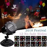 Projector Lights Valentine's Day Decorations Gifts, Airlab LED Projector Lights with 12 Switchable Patterns Indoor and Outdoor Spotlight for Garden Children Birthday Party Holiday Wedding