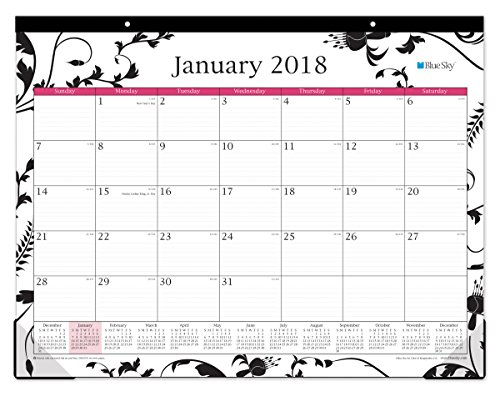 "Blue Sky 2018 Monthly Desk Pad Calendar, 22"" x 17"", Analeis"