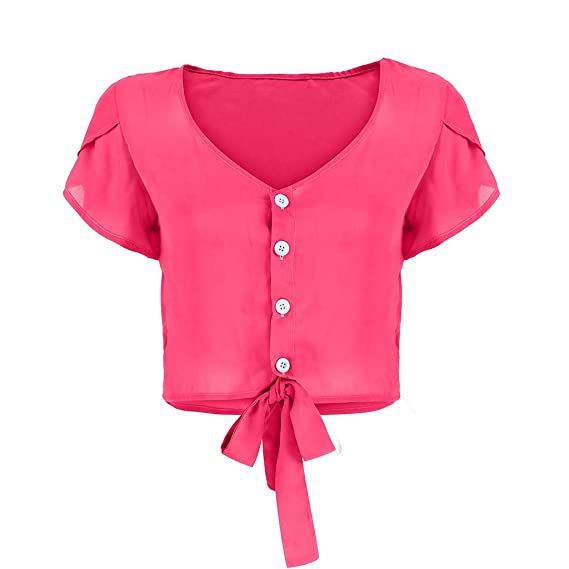 MOSERIAN Womens Top Fashion V-Neck Button Cardigan Top Bow ...