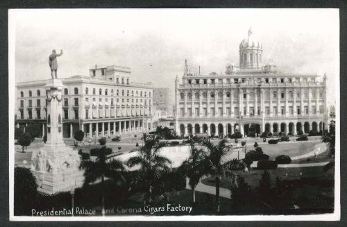Presidential Palace & Corona Cigars Factory Havana Cuba RPPC 1930s