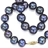 14k-Yellow-Gold-75-8mm-Dyed-black-Freshwater-Cultured-High-Luster-Pearl-Necklace-18