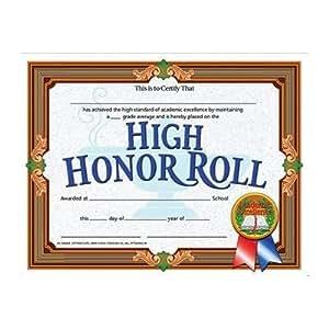 amazoncom high honor roll achievement certificate set