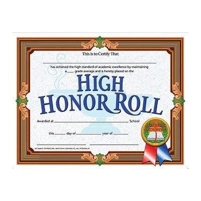 Amazon.com : High Honor Roll Achievement Certificate (Set of 30 ...