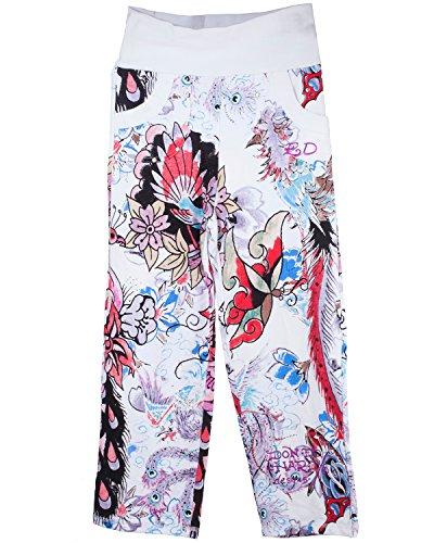 Ed Hardy Women Clothing - Ed Hardy Kids Big Girls' Sweatpants - Pink/White - X-Large