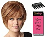 Opening Act Wig Color RL6/8 - Raquel Welch Women's Wigs Face Framing Layered Cut lace Front Monofilament Top Bundle with Travel Kit, MaxWigs Hair Loss Booklet