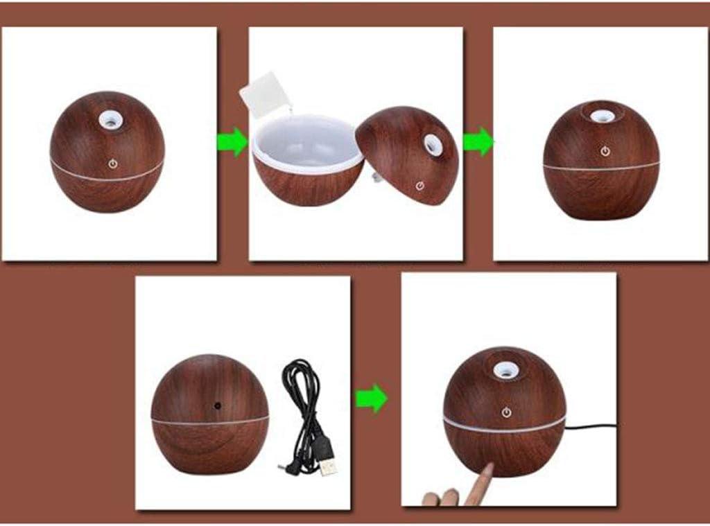 CUTICATE Purificador De Aire Humificador LED para Hogar Dep/ósito de Agua de 130 ml caf/é