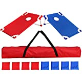 ZENSTYLE Portable 3ft x 2ft Cornhole Bean Bag Game Set PVC Waterproof Fabric Frame with 8 Bean Bags and Carrying Case Ideal Toss Game Choice for Outdoor, Indoor Activities