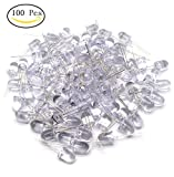 Yootop 100 Pcs 10mm/0.39'' Clear Bright LED Lamps Light Emitting Diffused Diodes