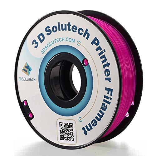 3D Solutech See Through Purple 3D Printer PLA Filament 1.75MM Filament, Dimensional Accuracy +/- 0.03 mm, 2.2 LBS (1.0KG) - 100% USA