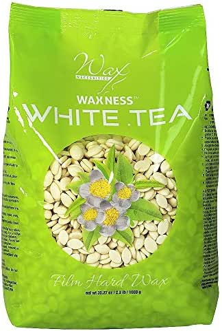 Waxness Wax Necessities Film Hard Wax Beads White Tea Cream 2.2 Pound